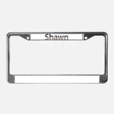 Shawn Stars and Stripes License Plate Frame