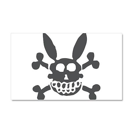 Halloween Smiling Rabbit Skull Car Magnet 20 x 12