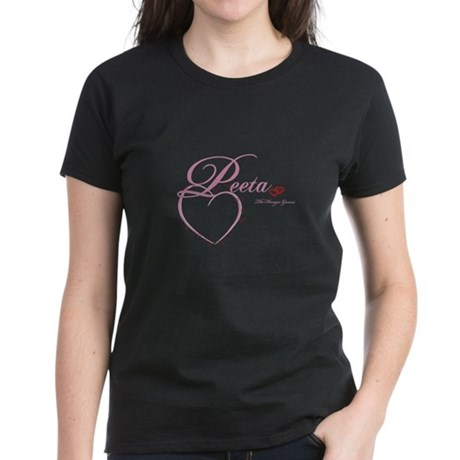 Peeta Hearts Women's Dark T-Shirt