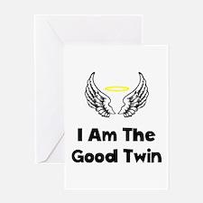 Good Twin Greeting Card