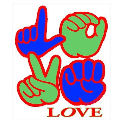 Square F.S. LOVE Poster