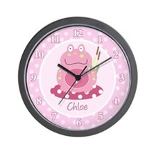 Pink Froggy Frog Wall Clock