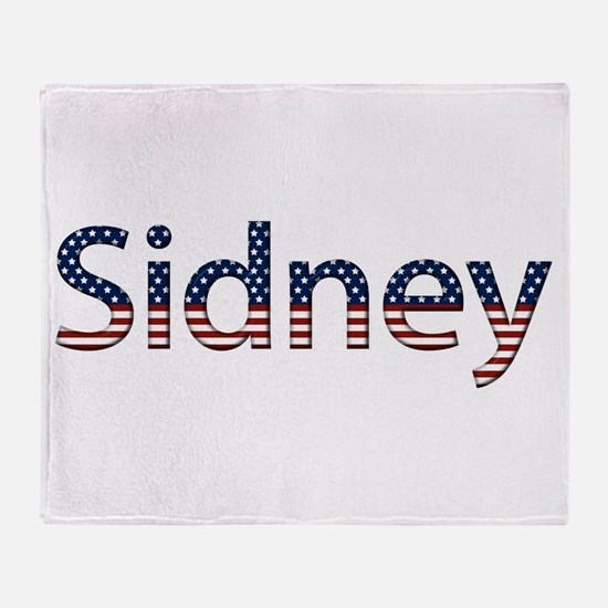 Sidney Stars and Stripes Throw Blanket