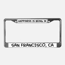 Happiness is San Francisco License Plate Frame