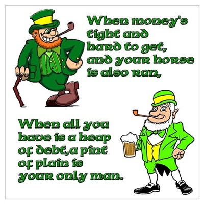 Irish Sayings, Toasts and Ble Poster