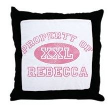 Property of Rebecca Throw Pillow