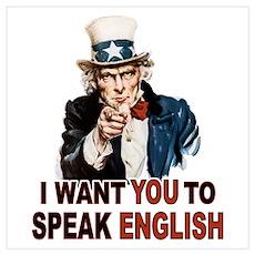 English: SPEAK ENGLISH Poster
