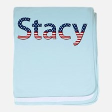 Stacy Stars and Stripes baby blanket