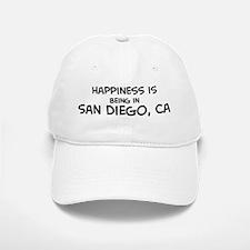 Happiness is San Diego Baseball Baseball Cap