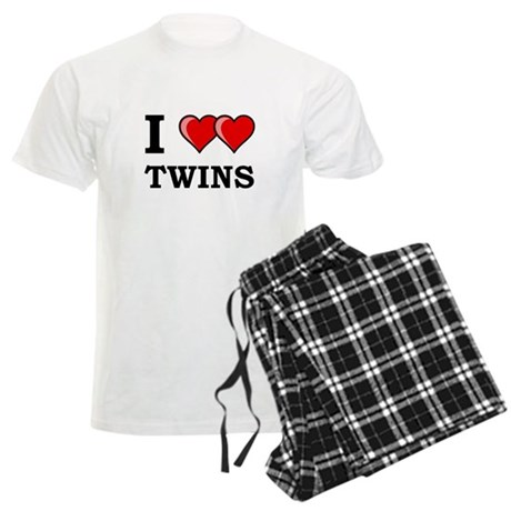 I Heart Twins Men's Light Pajamas