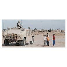 Children In Umm Qasr Poster