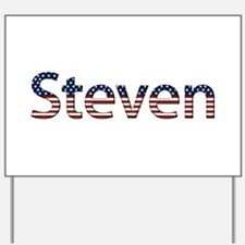 Steven Stars and Stripes Yard Sign