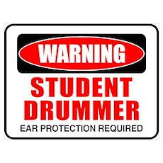 Student Drummer Poster