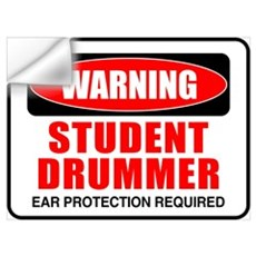 Student Drummer Wall Decal