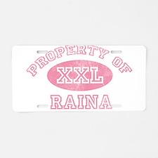 Property of Raina Aluminum License Plate
