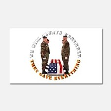 We Will Always Remember Car Magnet 20 x 12