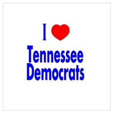 I Love Tennessee Democrats Poster