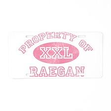 Property of Raegan Aluminum License Plate