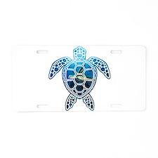 Unique Peace%2c love%2c turtle Aluminum License Plate