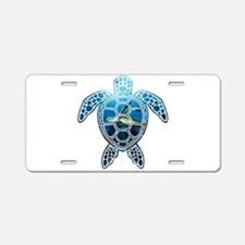 Funny Sea turtles Aluminum License Plate