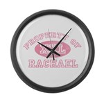 Property of Rachael Large Wall Clock