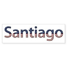 Santiago Stars and Stripes Bumper Bumper Sticker