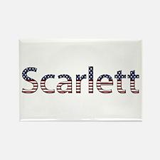 Scarlett Stars and Stripes Rectangle Magnet
