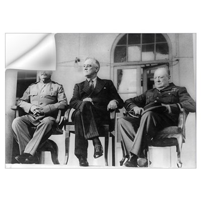 Roosevelt, Stalin, and Churchill, Teheran Wall Decal