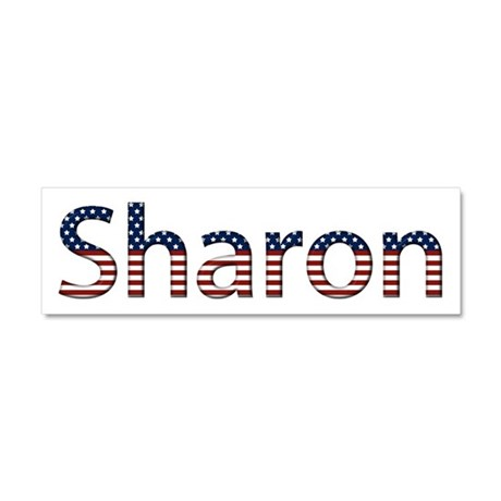 Sharon Stars and Stripes 10x3 Car Magnet
