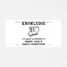 Knowledge Aluminum License Plate