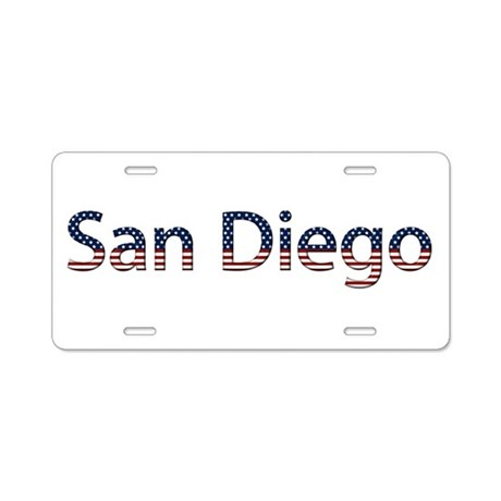 San Diego Stars and Stripes Aluminum License Plate