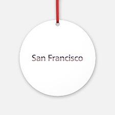 San Francisco Stars and Stripes Round Ornament