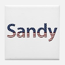 Sandy Stars and Stripes Tile Coaster