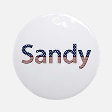 Sandy Stars and Stripes Round Ornament