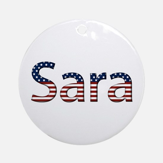 Sara Stars and Stripes Round Ornament