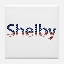 Shelby Stars and Stripes Tile Coaster