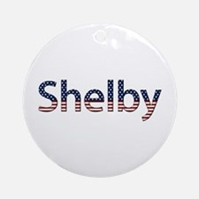 Shelby Stars and Stripes Round Ornament