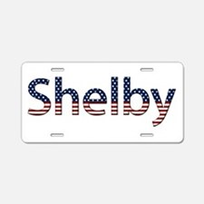 Shelby Stars and Stripes Aluminum License Plate