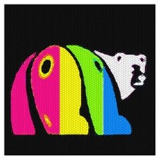 ABSTRACT COLORFUL BEAR Poster
