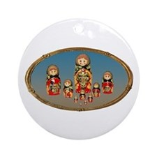 Russian Dolls Ornament (Round)