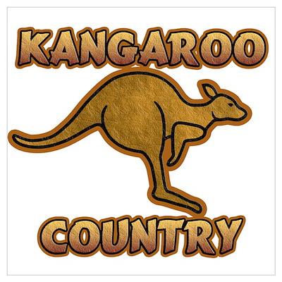 Kangaroo Country Logo Poster