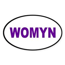 womyn... Oval Decal