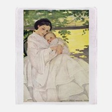 Mother and Child Throw Blanket