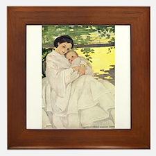 Mother and Child Framed Tile