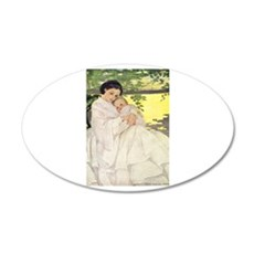 Mother and Child 22x14 Oval Wall Peel