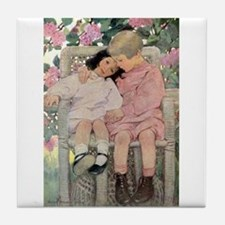 Love My Little Sister Tile Coaster
