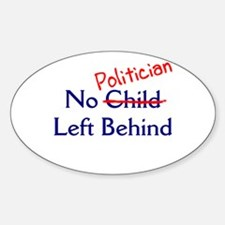 No Politician Oval Decal