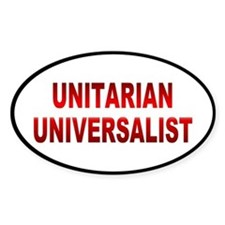 unitarian... Oval Decal