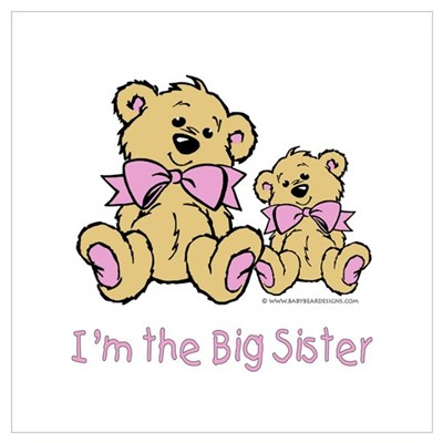 Baby Bear I'm The Big Sister Canvas Art