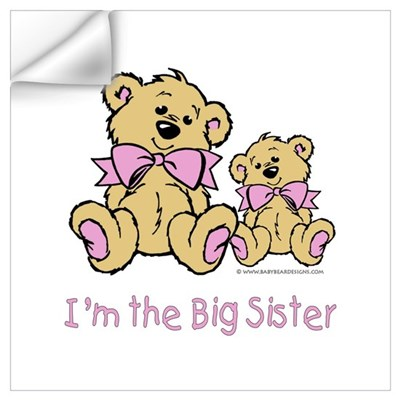 Baby Bear I'm The Big Sister Wall Decal